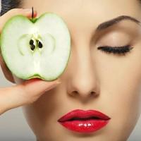 التفاح للبشرة